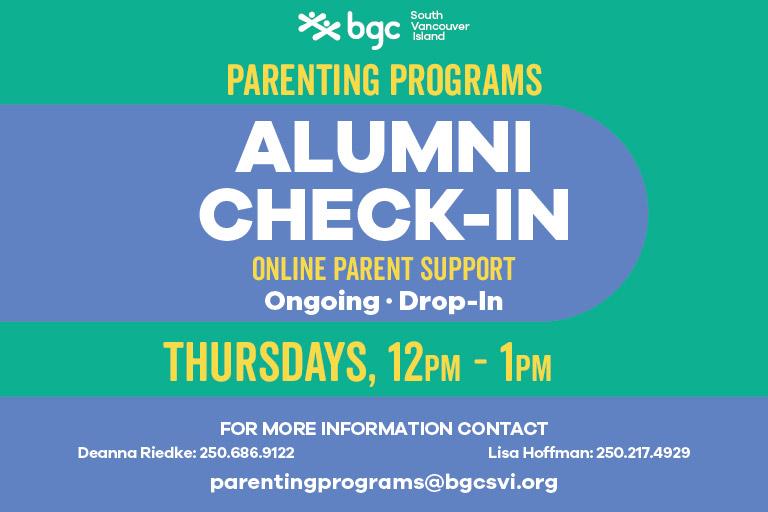 Parenting Programs BGCSVI Alumni Check-In 2021