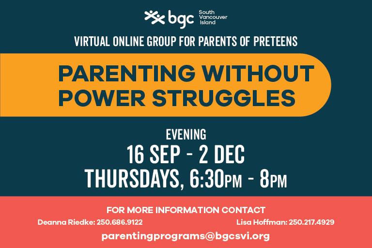 Parenting Without Power Struggles Thursdays