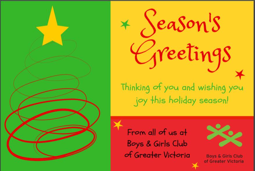 BGCVIC 2018 Season's Greetings Card