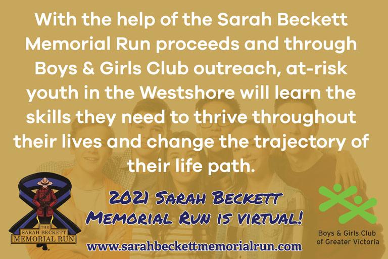 BGCVIC SARAH BECKETT MEMORIAL RUN